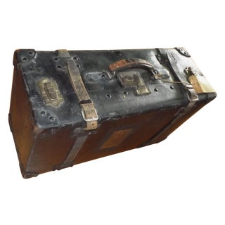 Antique Suitcase with Leather Straps