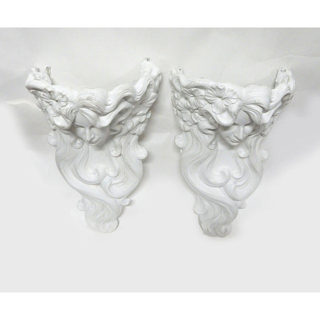 Tony Lopez Plaster Wall Sconces - a Pair - Image 5 of 7