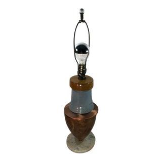 Handmade Ceramic and Metal Sleek Table Lamp