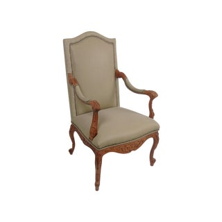 Hancock and Moore Leather Arm Chair