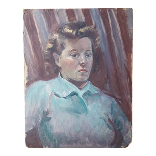 1940's Female Portrait Painting