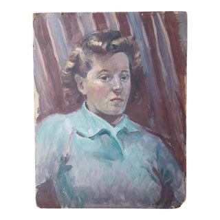 1940's Female Portrait Painting