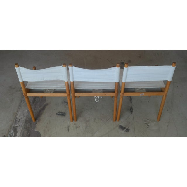 Danish Modern White Dining Chairs - Set of 6 - Image 5 of 10