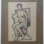 Image of Richard Ayer VIntage 'Untitled' Drawing