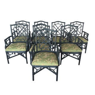 McGuire Chinese Chippendale Chairs - Set of 8