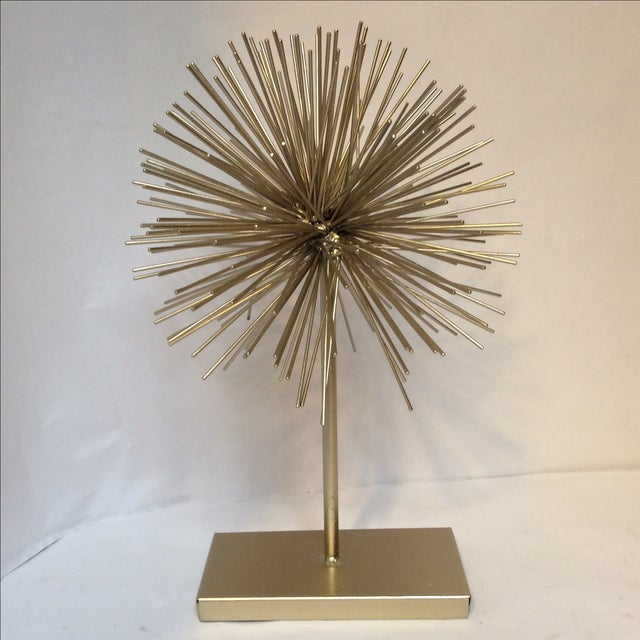 Large Gold Star Burst on Stand - Image 2 of 6