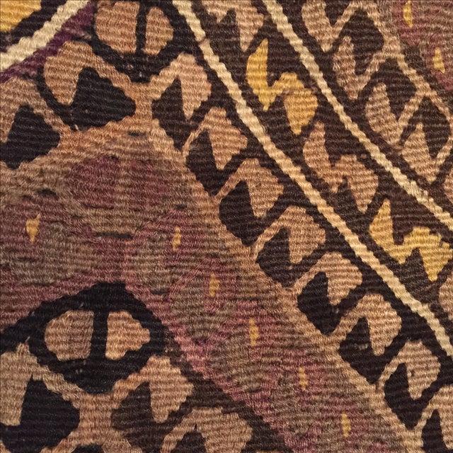 Vintage Brown Kilim Pillow Case - Image 4 of 5