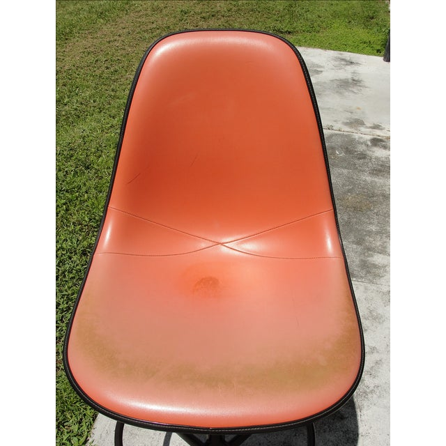 Eames Mid-Century Orange Bar Stool - Image 6 of 9