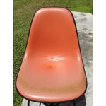 Image of Eames Mid-Century Orange Bar Stool