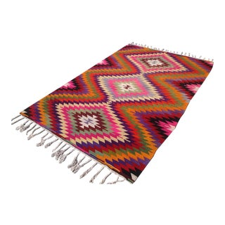 Vintage Turkish Kilim Rug - 5′8″ × 8′6″