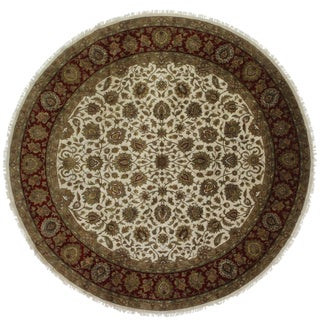 RugsinDallas 12 Feet Round Persian Style Hand Knotted Wool Rug - 12' X 12'