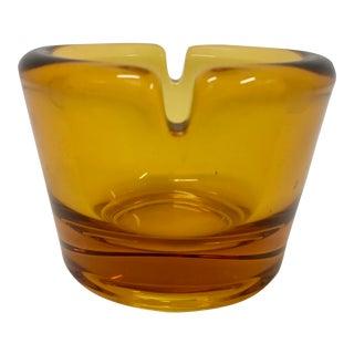 Blenko Yellow Glass Ashtray