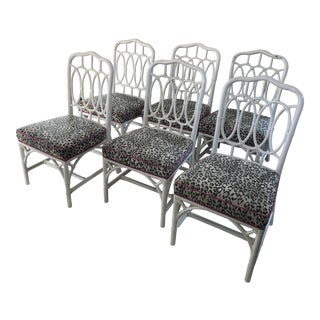 Ficks Reed Cheetah Print Dining Chairs - Set of 6