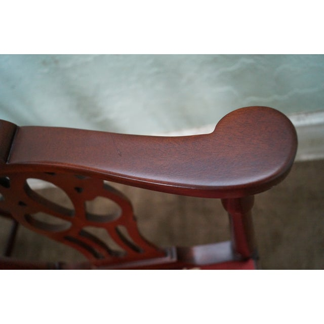 Quality Mahogany Chippendale Corner Arm Chair - Image 8 of 10