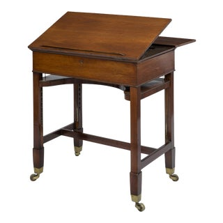 Very Rare George III Mahogany Retractable Writing & Architectural Table