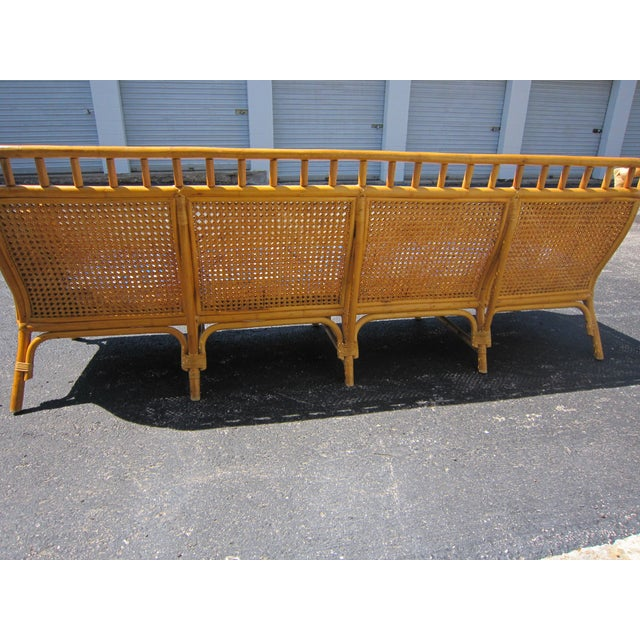 Cane rattan asian style sofa chairish for Chinese style sofa