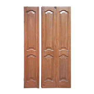 Antique Mahogany Folding Door