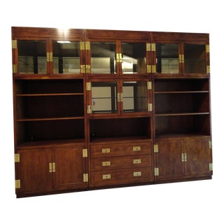 Henredon Campaign-Style Display Cabinets