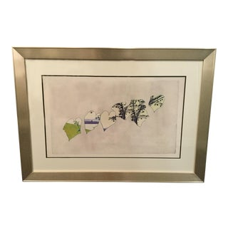 'Horizontal Leaves' Framed Print