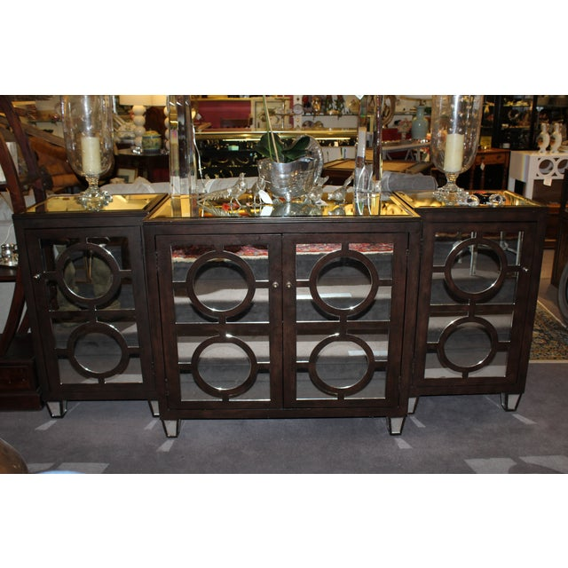 Modern Mirrored Buffet - 3 Pieces - Image 4 of 4
