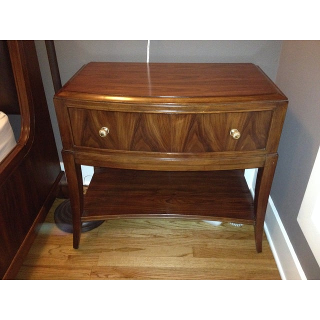 Bob Mackie Signature Bowed Rosewood Nightstand - Image 2 of 9
