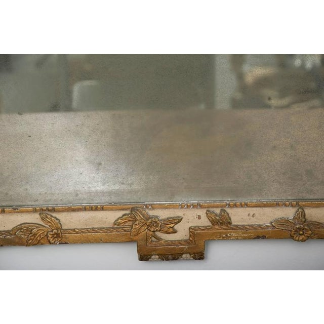 Louis XVI Style Parcel-Gilt and Cream-Painted Wall Mirror - Image 5 of 8
