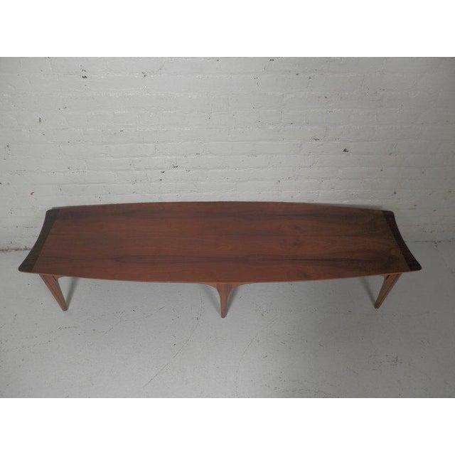 Long Surfboard Style Mid Century Coffee Table Chairish