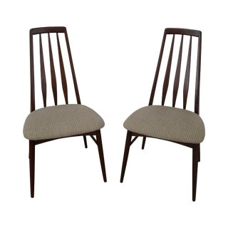Niels Koefed Danish Modern Eva Side Chairs - A Pair