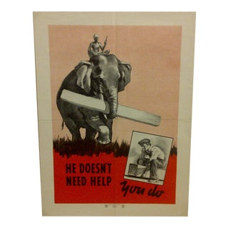 Vintage National Safety Council Poster