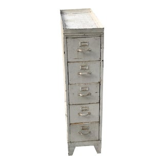 Vintage Industrial Metal 6 Drawer File Cabinet