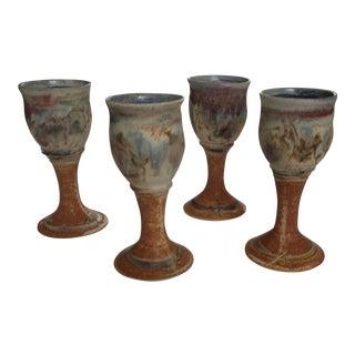 Studio Pottery Goblets - Set of 4
