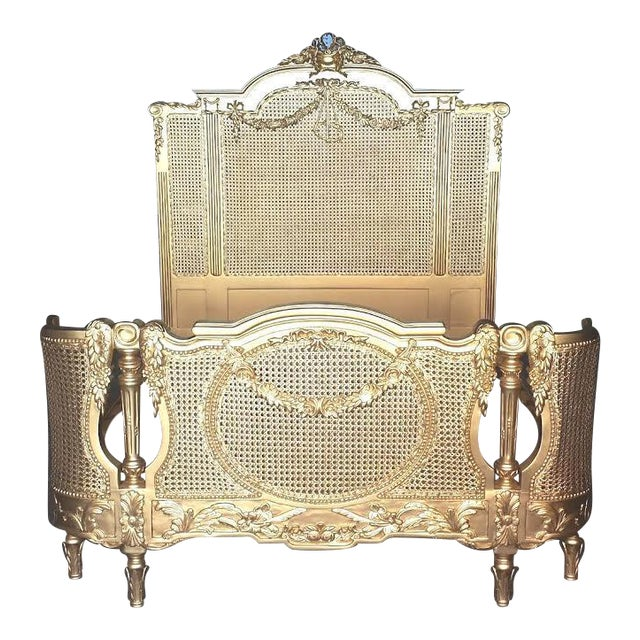 Baroque Bed Frame Rococo Gold Full-Size ...