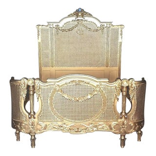 Rococo Gold Full-Size Bed Frame
