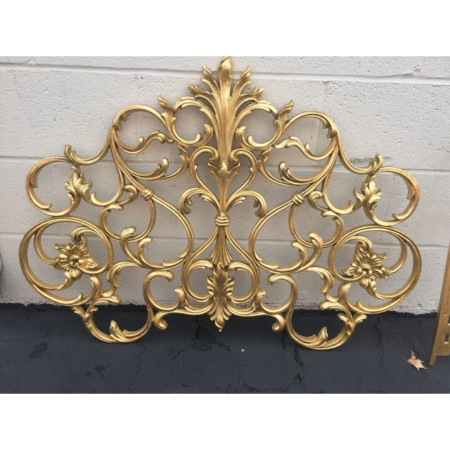 Twin Gold Head Boards & Frames - 4 Pieces - Image 3 of 6