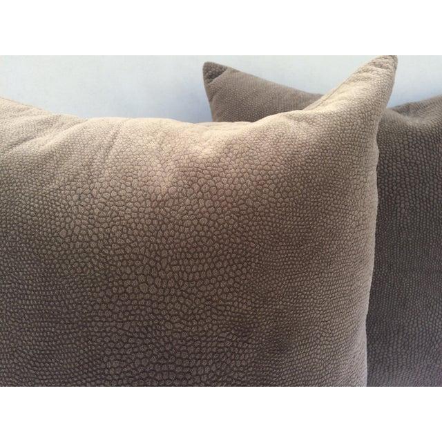 Ultra Modern Pillows : Ultra Suede Animal Print Pillow - a Pair Chairish