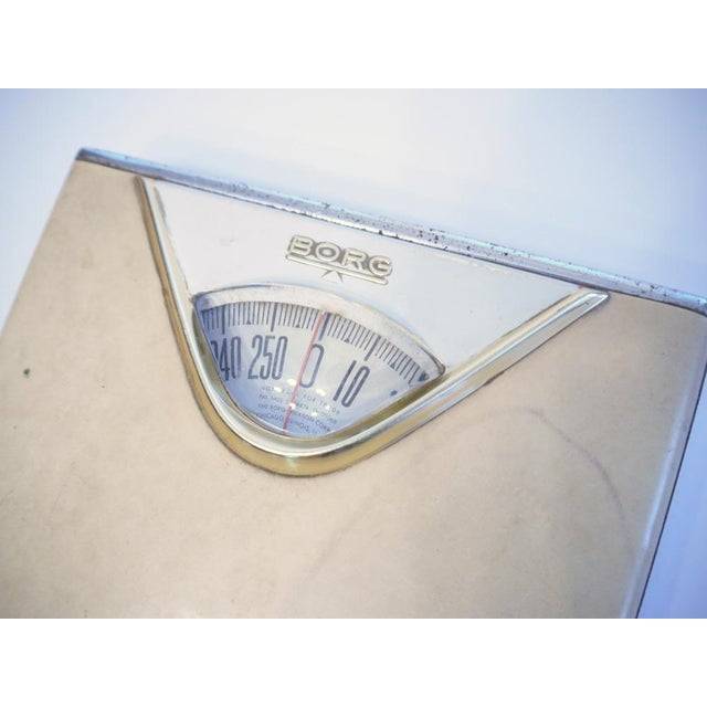 Mid century golden borg bathroom scale chairish for Borg bathroom scale