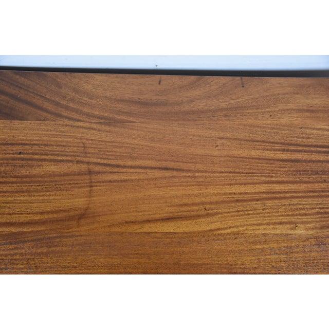 Image of Antique Solid Mahogany Executive Desk