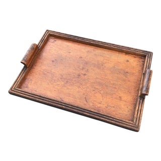 Vintage Handmade Folk Art Wood Tray