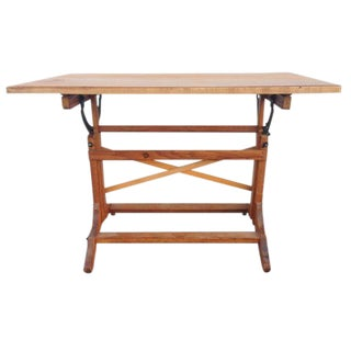 Industrial-Style Drafting Table