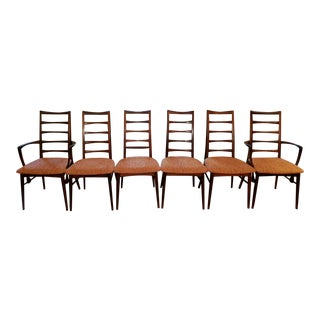Koefoed Hornslet Danish Rosewood Dining Chairs - Set of 6
