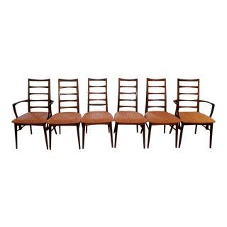 Koefoed Hornslet Danish Rosewood Dining Chairs - Set of 6