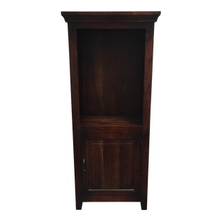 Solid Mahogany Bookcase With Cupboard