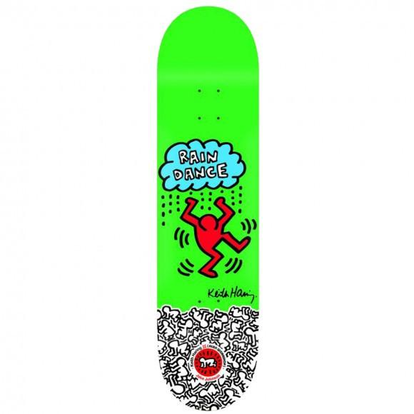 Rare Keith Haring Green Skate Deck - Image 1 of 2