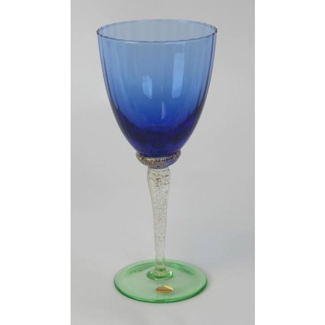 Venetian Glass Wine Goblets - Set of 12 - Image 4 of 6