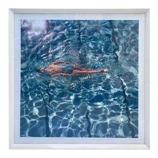 "1960 Fred Lyons ""The Swimmer"" Framed Photograph"