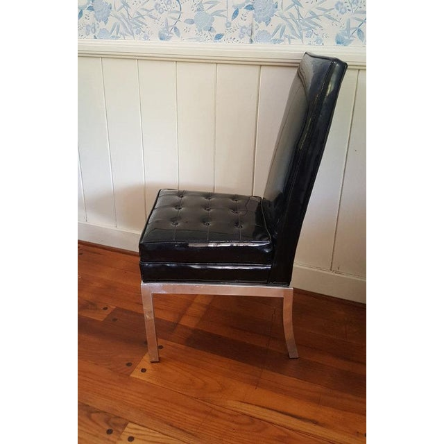 Image of Mid-Century Modern Patent Leather Chairs - S/4