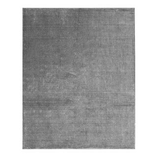 Gray Contemporary Hand Woven Rug - 7′9″ × 9′9″