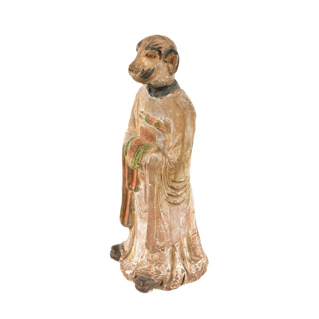 Antique Chinese Zodiac Dog Figurine - Image 1 of 9
