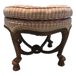 Giltwood & Upholstered Vintage Ottoman
