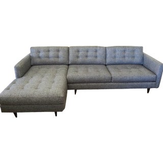 Mid-Century Tufted 2-Piece Sectional